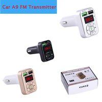 3.1A Dual USB Fast Charger A9 Caricabatteria da auto Bluetooth 5.0 FM Trasmettitore Vernice wireless Audio ricevitore Auto Player MP3