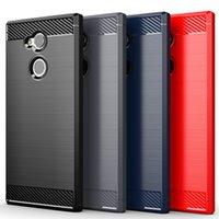 Cas pour Sony Xperia L1 E6 L2 L3 XA1 XA2 ULTRA XA3 PLUS XA4 Fibre de carbone de protection de carbone Coques mous