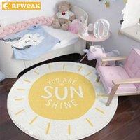 Carpets RFWCAK Round Carpet For Living Room Baby Play Mats Kids Crawling Floor Rug Blanket Cotton Game Pad Children Decoration