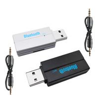 Bluetooth USB Wireless Bluetooth Récepteur Bluetooth 3.5mm Adaptateur audio Jack Aux TF Lecteur de carte Microphone mains libres Appel pour Kit Voiture Radio