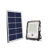 Солнечный прожектор прожектора прожектора 100 Вт лампа смарт света смазки на открытом воздухе с дистанционным управлением для садового склада завод