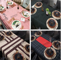 Fashion Durable Table Cloth Designer Antifouling Oil-proof Waterproof Non-slip Table Cloth Home Hotel Restaurant Bar Picnic Must Table Cloth