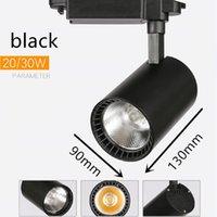 COB LED Parça Işıkları Lambası 20 W 30 W Tavan Raylı Aydınlatma Armatürleri Spot Mağaza Giyim Için 220 V