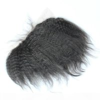 Cabelo humano brasileiro Kinky orelha direta para orelha 13x2 laço completo fechamento frontal médio livre 3 parte cabelo humano cabelo branqueado