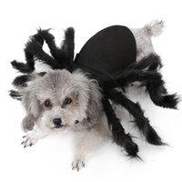 هالوين كلب الملابس القطيفة العنكبوت خلع الملابس للكلاب الصغيرة القطط تأثيري مضحك حزب جرو زي ل chihuahua يوركي 201102
