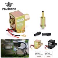 Universal 12V Bomba de combustible en línea electrónica 4-7PSI Alta presión 90lph Gas Petrol Diesel Compatible 40104 40106 40107 P502 PQY-HEP04 / 05