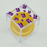 스퀘어 스토리지 박스 투명한 속눈썹 상자 개성 인쇄 나비 25mm 속눈썹 포장 상자 거짓 눈 속눈썹 Packag 96 P2