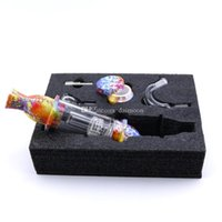 Silicon DAB Straw Faro Faro Pipe Acrilico Smoking Bong con il vetro Attacco Ciotola Filtro fumatori colorato e unghie da 10 mm in titanio
