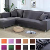 بلون أريكة أريكة أغطية لغرفة المعيشة البوليستر مرونة الزاوية الأريكة الغزلان كرسي حامي منشفة l شكل ركن sof
