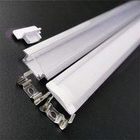 Profilo di alluminio a LED a LED da 7 mm incorporato da 50 cm da 50 cm, 12 mm 5v 12v 24 V, canale striscia, costruito nella casa lineare a soffitto a parete