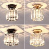 LED-Deckenleuchten Kristall Lampshade Balck Gold-Plafonnier Wohnzimmer Schlafzimmer Moderne Round Square Dekorative Deckenleuchte E27