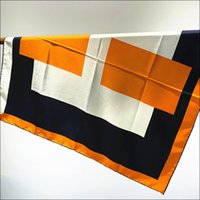 Cabeza bufanda 90 seda bufanda superior mano borde bordeado satinado bufandas cuello foulard femme hecho a mano de doble cara bandana clásico bufandas