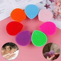 1 Pc Silicone Wash Pad Facial Limpador Escova Face Exfoliando Blackhead Beauty Tool Foundation Foundation Maquiagem Limpeza Mat Ferramenta