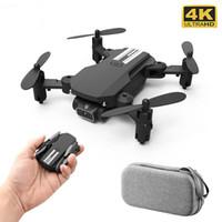 جديد مصغرة rc drone 4 كيلو hd كاميرا wifi fpv ارتفاع ضغط الهواء عقد الأسود والرمادي طوي quadcopter rc dron لعبة هدية