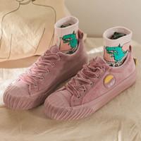 نجم نمط القطن 2019 أحذية الساخن الجديدة القطن القطيفة اللون مطابقة أحذية شل الأولى يوم المرأة قماش أحذية