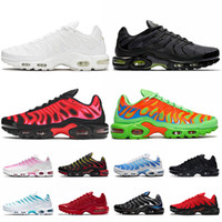 sapatos Nike Air Max Plus Tn Max Air Plus tn Plus Stock x Grande tamanho US 12 Tênis masculino feminino Designers Luxurys White Black Volt University Red Tênis de treino