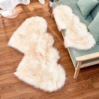 Schlafzimmer lebende Pelzzeiten Plüsch Rug Teppiche flaumig herzförmige raum teppich sitz waschbare pad doppelwolle 35 * 70 cm 60 * 120 cm 90 * 180 cm ewjfe