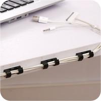 Autohesion Wire Thread Management Gerät Haushalt Weiß Schwarz Netzwerk Kabel Fixierclip Daten Zeile Lagerung Finisher Heißer Verkauf 1 15ZL J2