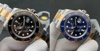 41mm homens preto azul cerâmico cerâmico v11 versão automática cal.3235 assistir 904L ouro ouro perpétuo mergulho homens 126613 eta noobf n relógios
