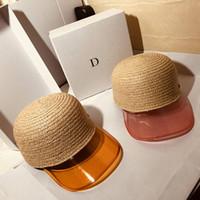 Fashion Raffia Gorras de paja Holiday Beach Hat Womens Wide Brim Sombreros de alta calidad Sun Hat Tide Pescador gorras Sombreros