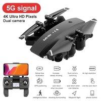RC-Drohne mit HD-Kamera 4k GPS 5G FPV Wifi Dual-Kamera HD 1080P Quadkopter Weitwinkel 360 Grad rotierende RC-Spielzeug für Kinder 201221