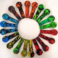 Renkli Grafiti Silikon Boru Silikon Sigara Tütün Bonglar Paslanmaz Çelik Kase Ile Silikon El Borular Duman Ücretsiz Kargo