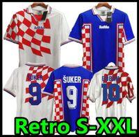 1998 Retro Suker Soccer Jersey Home Away Jersey 98 Camisas Estúgio Prosinecki Boban Bilic Jarni