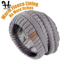 Furtalk قبعة الشتاء القبعات للنساء محبوك قبعة قبعة صغيرة مع المخملية السيدات شتاء دافئ كاب الكورية الأحمر أسود أصفر كاب 201215