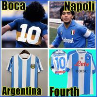 레트로 1986 아르헨티나 축구 유니폼 1978 Boca Juniors 1981 빈티지 나폴리 네 번째 4 번째 1987 1988 축구 셔츠 키트 클래식 탑스