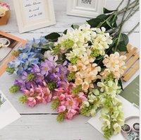 Imitação flor borboleta orquídea artificial flores decorativas decoração de casamento acessórios fotografia adereços nórdicos arranjo ornamento grinaldas