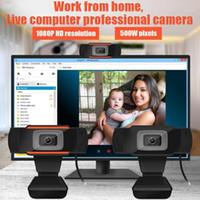 HD 웹캠 풀 HD 1080P 내장 된 MICS 웹 카메라 USB PRO 스트림 카메라 비디오 컨퍼런스 용 비디오 컨퍼런스 PC1