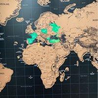 1 قطعة ديلوكس محو العالم السفر خريطة خدش خارج العالم خريطة السفر خدش لخطوط غرفة المنزل مكتب الديكور ملصقات الحائط