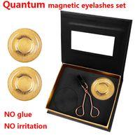 الكم الرموش المغناطيسية الكم مجموعة الرموش الصناعية مجموعة لا الغراء لا تهيج قابلة لإعادة الاستخدام جودة عالية