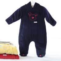 Baby romper Pajama overalls Baby climb thick warm Long Sleeves 100% Cotton Winter Newborn Baby Girl Clothes Boy Clothes F1214