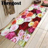 Coussin / oreiller décoratif Thegost 3D imprimé de bain de bain antidérapant microfibre tapis tapis de tapis d'eau absorbant tapis de cuisine tapis couloir carpe