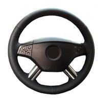 Крышки рулевого колеса Натуральная кожаная крышка автомобиля для M-класса ML350 ML500 2005 2006 GL-класс GL450 / рулевое управление