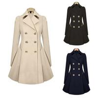 여성 새로운 트렌치 코트 가을 더블 브레스트 따뜻한 윈드 브레이커 인과 긴 여성 트렌치 코트 여성 플러스 크기