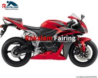 Bodykit voor Honda CBR600RR F5 2007 2008 CBR 600 RR 07 08 RODE ZWARTE MOTORBIKE CLOSYWARK VALINGEN (spuitgieten)