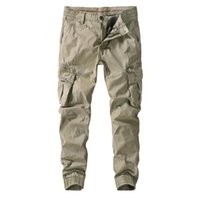 Negizber 2021 Bahar Yeni Kalınlaşma Takım Pantolon Erkekler Spor Moda Erkek Kargo Pantolon Saf Renk Pamuk erkek Pantolon