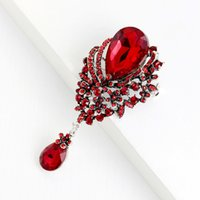 Retro Water drop Brooch pins diamond business suit corsage brooch for women fashion accessories will and sandy gift