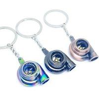 الإبداعية سيارة توربو سلسلة المفاتيح متعدد الألوان سبيكة الصوت الشاحن التربيني الحلي للنساء الرجال مفتاح سلسلة سيارة مفتاح حلقة حقيبة قلادة الهدايا