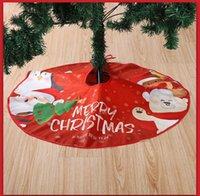 90 cm Plaid Impreso Faldas de árbol Adorno de Navidad Mascarilla Cara Familia Creativa árbol de Navidad Inicio Inicio Navidad Decoración de fiesta GGB2553