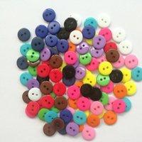 100ピースロットキャンディーカラー樹脂ミシン2穴ボタンスクラップブッキング装飾装飾的なボタン9mm 1 jllbeu