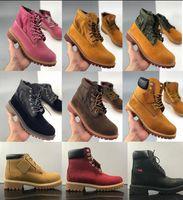 2020 Classic Hommes Bottes Designer TBL Martin Femmes En Cuir Chaussoirs Entraîneurs Ankle Hiver Boot pour Cowboy Yellow Military Triple BLA B46J #