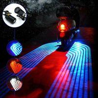 오토바이 천사 날개 프로젝션 조명 키트 언더 바디의 예의 유령 그림자 조명 네온 지상 효과 조명 자동차 DVR QC13