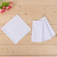 Blanco El partido pañuelo de algodón satinado masculino Tabla Pañuelo Pañuelo cuadrado de Remolcadores más blanca de los hombres del regalo de la 40 * 40cm DHB3010