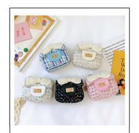 جديد الأميرة حقيبة الأطفال رسول لؤلؤة القوس حقيبة صغيرة فتاة الطفل الكتف الصغيرة مربع حقيبة الأزياء الاتجاه الاطفال هدية