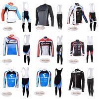 Küp Takımı Erkek MTB Bisiklet Kış Termal Polar Uzun Kollu Jersey Önlük Pantolon Setleri Nefes Ropa Ciclismo Hombre 121507