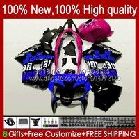 Bodys pour Honda Interceptor VFR800RR 1998 1999 2000 2001 Blue Bodywork respol 99HC.151 VFR800R VFR 800RR 800 RR VFR800 98 99 00 01 Catériel