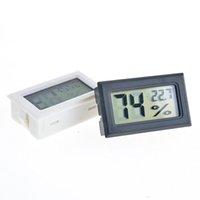 2020 New Black / Branco FY-11 Mini Digital LCD Meio Ambiente Termômetro Higrômetro Medidor de Temperatura de Umidade no Quarto Geladeira IceBox